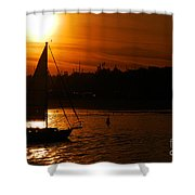 Sunset In Southern California Shower Curtain
