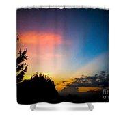 Sunset In Summer  Shower Curtain