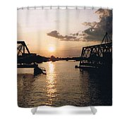 Sunset In Superior Wi Shower Curtain