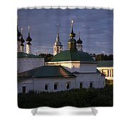 Sunset In Suzdal Shower Curtain