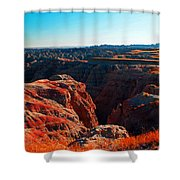 Sunset In The Badlands Shower Curtain