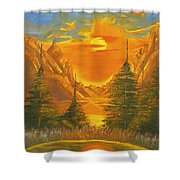 Sunset In The Canyon 1 Shower Curtain