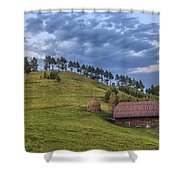 Sunset In The Carpathians Shower Curtain