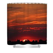 Sunset In The City Shower Curtain