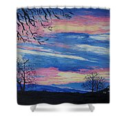 Sunset In The Country Shower Curtain