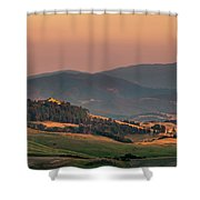 Sunset In The Countryside Shower Curtain