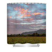 Sunset In The Mountains Shower Curtain