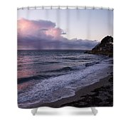 Sunset In The Ocean Shower Curtain