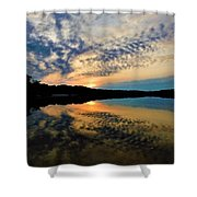 Sunset In The Pinelands  Shower Curtain