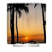 Sunset In The Sandwich Isles  Shower Curtain