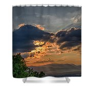 Sunset In The Shenandoah Valley Shower Curtain