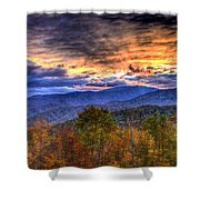 Sunset In The Smokies Shower Curtain