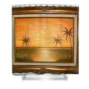 Sunset In The Tropics Shower Curtain