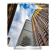 Sunset In The Urban Canyon Shower Curtain