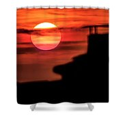 Sunset In Udine Shower Curtain