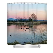 Sunset In Union Bay Shower Curtain
