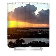 Sunset In Viera Florida Shower Curtain
