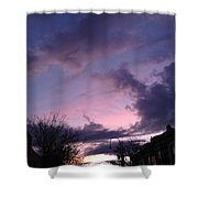 Sunset In Winter Skies  Shower Curtain