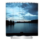 Sunset In Wyoming Shower Curtain