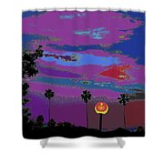 Sunset In Your Colorful Moon Shower Curtain