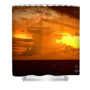 Sunset Indian Ocean Shower Curtain