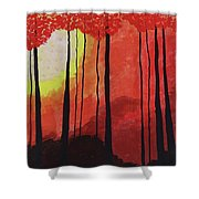 Sunset Into The Forest Shower Curtain