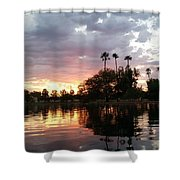 Sunset Island In Chaparral Lake Horizontal  Shower Curtain