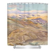 Sunset, John Singer Sargent Shower Curtain