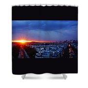 Sunset La Defense Paris France Shower Curtain