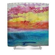 Sunset Lagoon Shower Curtain