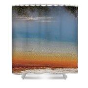 Sunset Lake In Black Sand Basin Yellowstone National Park Shower Curtain