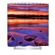 Sunset Lake Shower Curtain