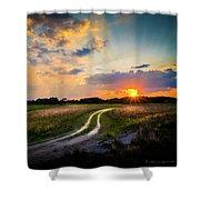 Sunset Lane Shower Curtain