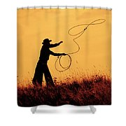 Sunset Lariat 4 Shower Curtain