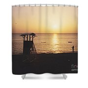 Sunset Life Guard Shower Curtain