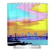 Sunset Lower Manhattan 2c5 Shower Curtain