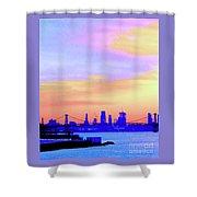 Sunset Lower Manhattan 2c2 Shower Curtain