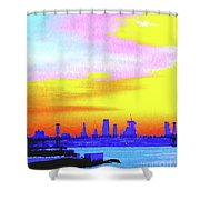 Sunset Lower Manhattan 2c3 Shower Curtain