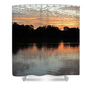 Sunset, Luangwa River, Zambia Shower Curtain