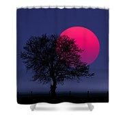Sunset Magenta Shower Curtain