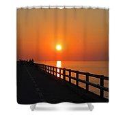 Sunset Marathon Shower Curtain
