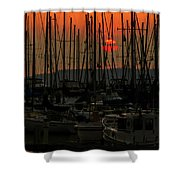 Sunset Marina Shower Curtain