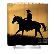 Sunset Meadow. Shower Curtain