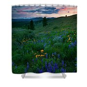 Sunset Meadow Trail Shower Curtain