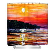 Sunset Melody Shower Curtain