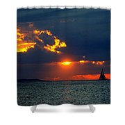Sunset Montauk Ny Shower Curtain