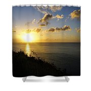 Sunset Monument Shower Curtain
