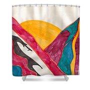 Sunset Mountains Shower Curtain