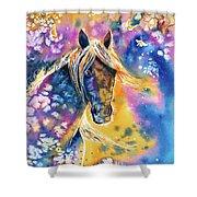 Sunset Mustang Shower Curtain