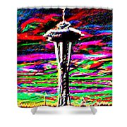 Sunset Needle 2 Shower Curtain